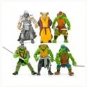 Conjunto de 6 bonecos das Tartarugas Ninja