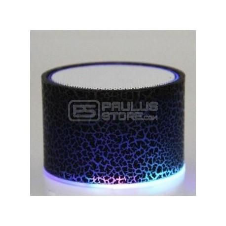 Mini Coluna de som com Bluetooth e luz