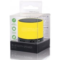 Coluna Mini Bluetooth Portátil 3W USB/SD/AUX/BAT/MIC (Amarelo)