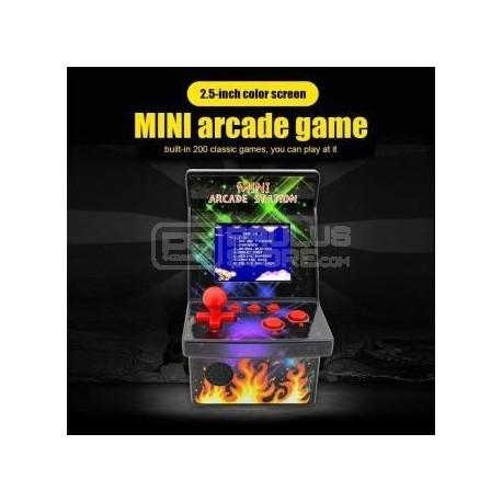 Mini consola arcade 8 bits com 200 jogos 2.5'' TFT