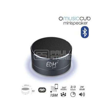 Coluna Mini Bluetooth Portátil 3W 85dB (Preto)
