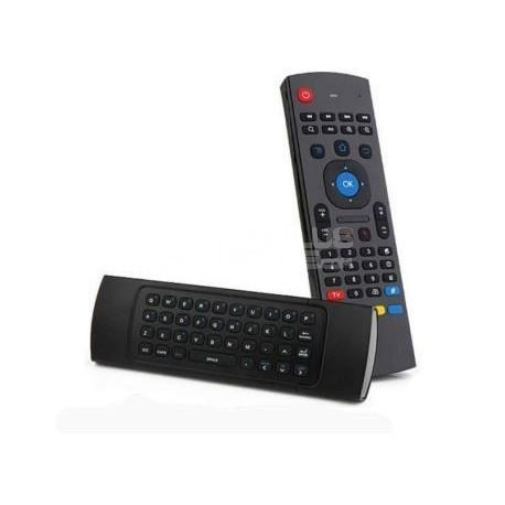 Comando com teclado e rato sem fios
