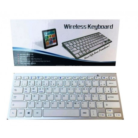 Teclado wireless bluetooth estilo Apple sem fios