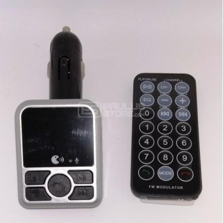 Transmissor carro radio fm mp3 mãos livres bluetooth