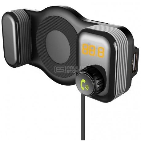Transmissor e suporte carro radio FM MP3 mãos livres bluetooth