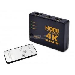 Comutador HDMI 4K Ultra HD - 3 portas