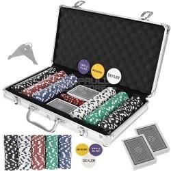 Conjunto de poker mala 300 fichas sem numeração