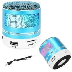 Coluna Mini Bluetooth Portátil 3W 80dB (Preto) c/ Iluminação - Reekin Coley