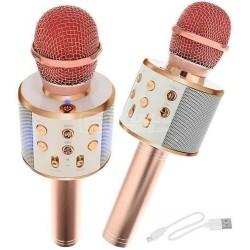 Microfone de karaoke sem fio Bluetooth Light pink