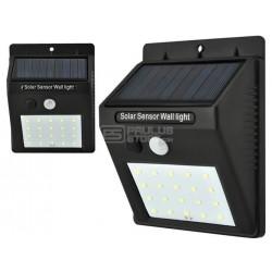 Candeeiro Luz solar 20 LED Sensor de movimento para exterior