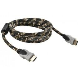 Cabo HDMI 2.0 Ethernet 4K banhado a ouro 3 metros