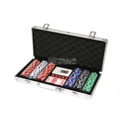 Conjunto de poker mala 300 fichas com numeração