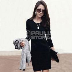 Vestido curto preto estilo classico tamanho M