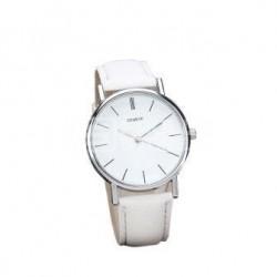 Relógio Geneve clássico branco