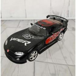 Miniatura Kinsmart 1:36 Diecast 2005 Dodge Viper GTS-R Preto