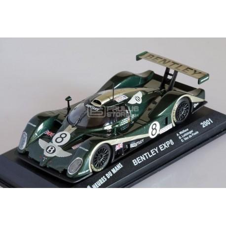 Miniatura Bentley EXP8 Le Mans 2001