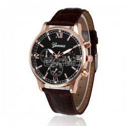 Relógio de homem Geneva de pele sintética