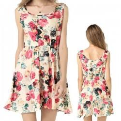 Vestido Bege florido