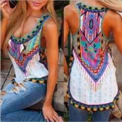 Blusa top super colorido