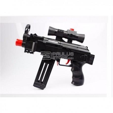 Arma Paintball 2 em 1 Brinquedo Metralhadora Ak46