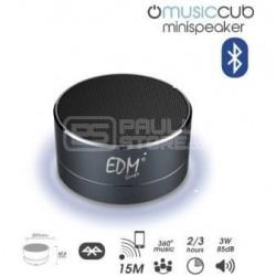 Coluna Mini Bluetooth Portátil 3W 85dB (Preto) c/ Iluminação