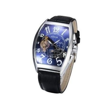 Relogio de luxo Sewor automático bracelete pele