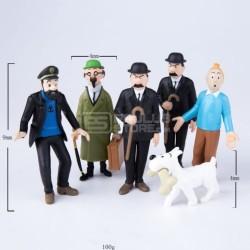 6 bonecos do TinTin
