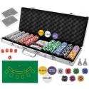 Conjunto de poker mala 500 fichas com pano