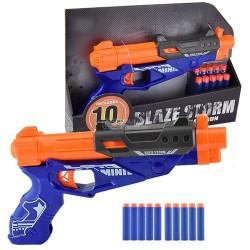 Pistola Blaze Storm Soft Bullet com 10 balas soft de esponja