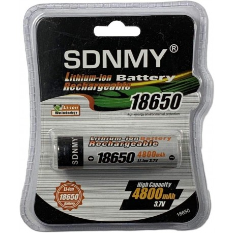Pilha recarregável SDNMY 18650 3.7V 4800mAh