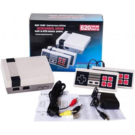 Consola retro tipo Nintendo com 620 Jogos clássicos 8 bits