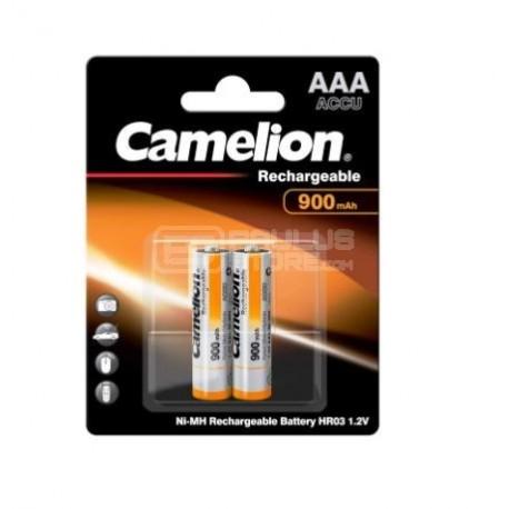 Pilhas recarregáveis 2x AAA 900mAh 1.2v Camelion