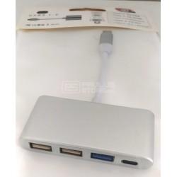 Adaptador de USB-C para portas USB 3.0 USB 2.0 USB-C fêmea