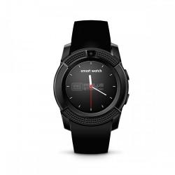 Smartwatch bracelete metálica cartão SIM câmera