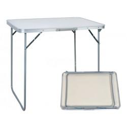Mesa Campismo Dobrável Branca em alumínio