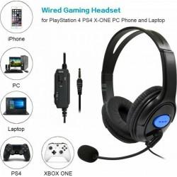 Auscultadores gaming com micro PS4 Xbox PC