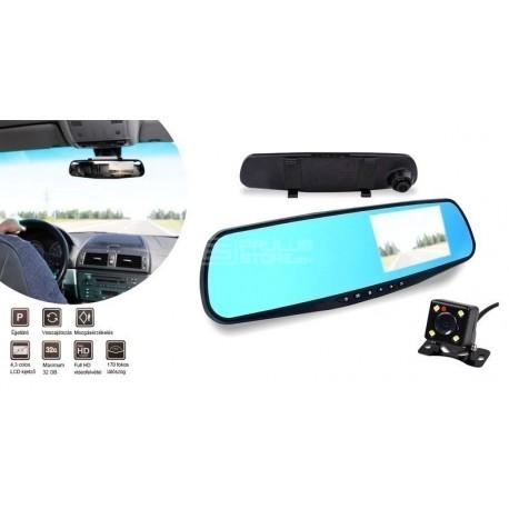 Espelho retrovisor com camera frontal e traseira