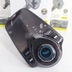 Transmissor Bluetooth FM AUX Carregador duplo mãos livres para carro