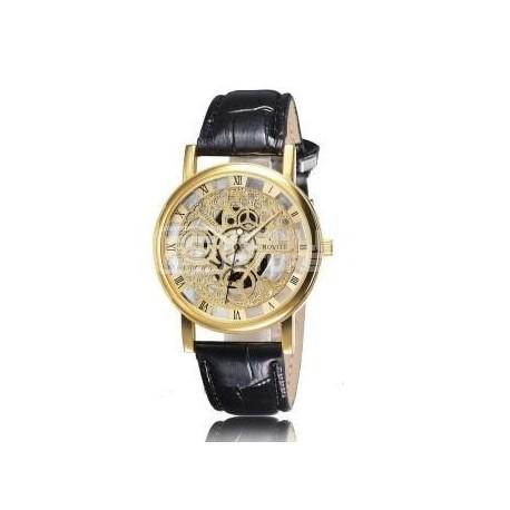 Relógio Esqueleto Dourado