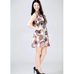 Vestido curto super colorido