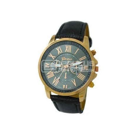 Relógio Geneva clássico dourado ou rosado