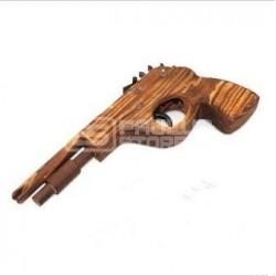 Pistola que atira elásticos