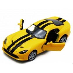 Miniatura Kinsmart 1:36 Diecast 2013 SRT Viper GTS Amarelo
