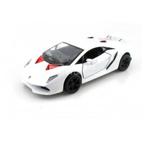 Miniatura Kinsmart 1:38 Diecast Lamborghini Sesto Elemento Branco