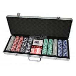 Conjunto de poker mala 500 fichas
